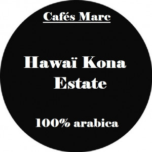 Café Hawaï Kona Estate moulu piston