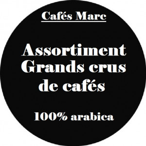 Assortiment Grands Crus de Café en grain