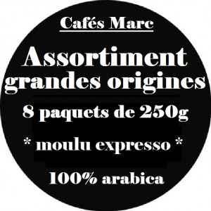 Assortiment cafés Grandes Origines