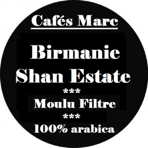 Café Shan Estate Birmanie moulu filtre