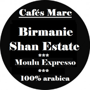 Café Shan Estate Birmanie moulu expresso